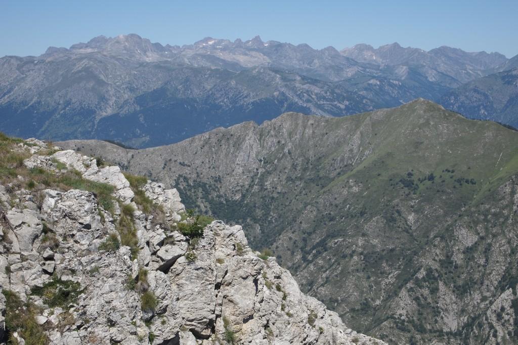 Uitzicht richting noordwest: Mercantour (F)