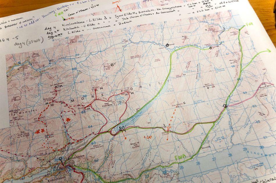 TGO Challenge 2021 Route design